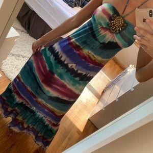 2/$10 ⭐️Printed Maxi Dress Blue and Purple Halter